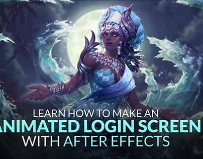 Yemoja, the Goddess of Rivers, animated login screens.