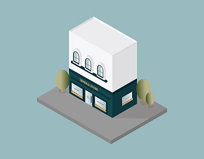 Isometric Illustration: General Store