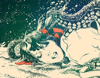 """Elaine"". Illustration for Ahab at Blowup festival."