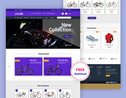 Bicycle E commerce Free PSD Template