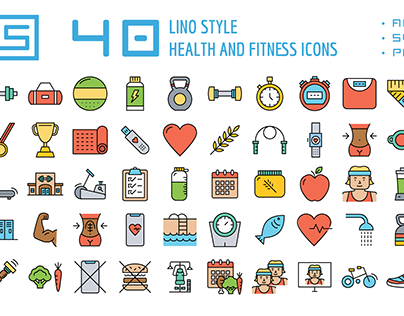 Fitness Lino Icons