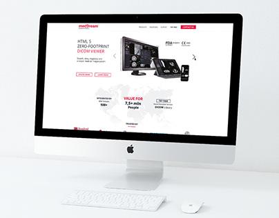 """""""medDream"""" internetinio puslapio dizainas"""