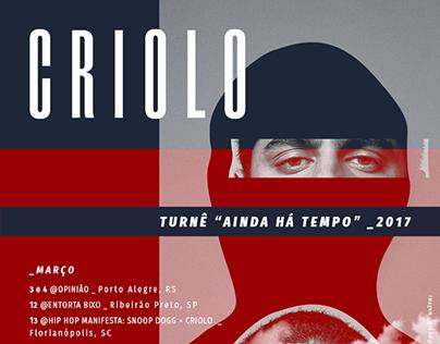 Cartaz // Turnê Criolo 2017