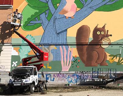 Mural in Gatchina, Russia