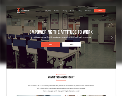 The Founders Cafe (Website UI/UX)