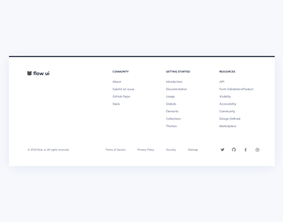 Day 1014 • Footer UI Design