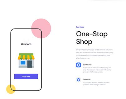 Oriscom Landing Page