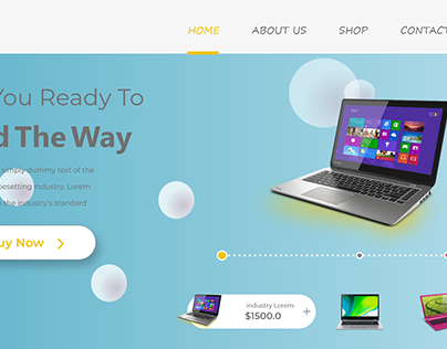 landing page for shop online