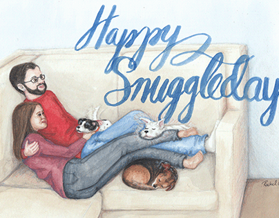 Happy Snuggledays Holiday Card