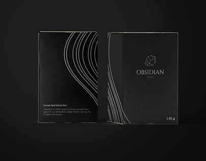 Obsidian - Luxury Tea Branding and Packaging