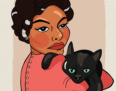Six fan arts: Celebrities and Cats
