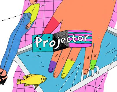 Projector murals