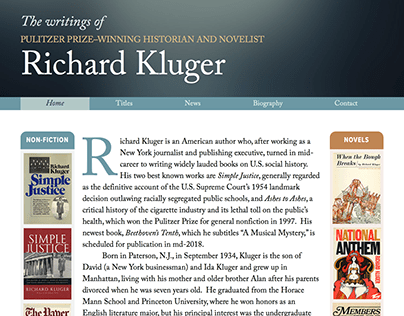 The Writings of Richard Kluger website
