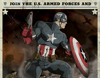 Captain America Armed Forces Recruitment Poster