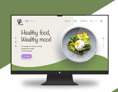Dietello Website design UI/UX Landing page