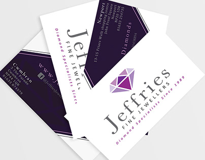 Jeffries Fine Jewellers - Business card design