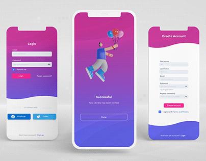 Mobile Login/Sign up UI