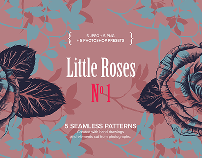 Little Roses No1 - seamless patterns