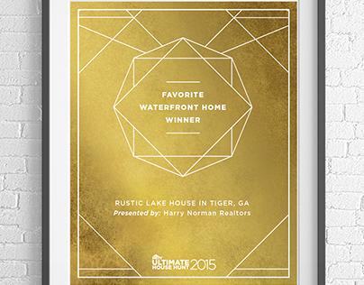 HGTV Ultimate House Hunt Winner's Certificates