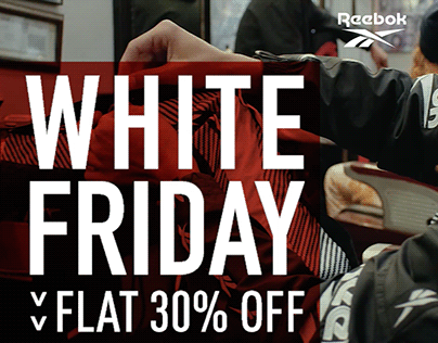 Reebok White Friday Flat 30% off campaign