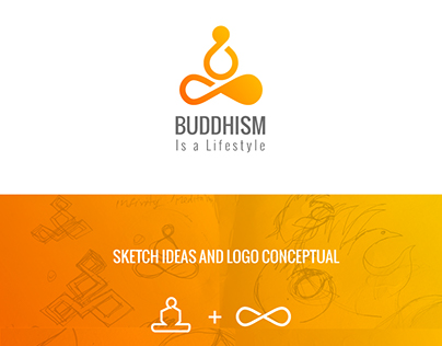 Buddhism is a lifestyle logo
