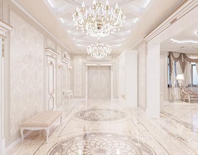 Classic interior / hall / Private house 570.0m²