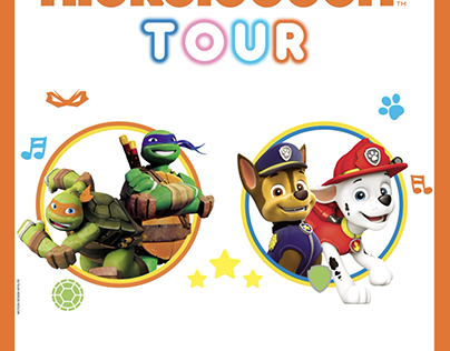 Nickelodeon Tour - OOH motion design
