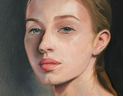 Practicing Portraits in Oil on Canvas