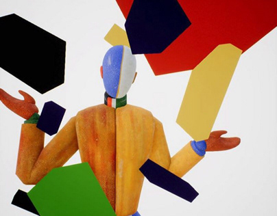 Two avant-garde artists in three dimensions