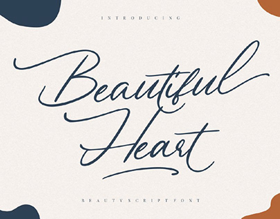 FREE | Beautiful Heart Elegant Script