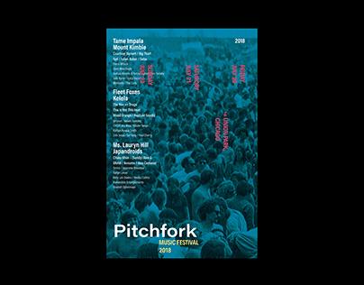 Visual Rebrand for Pitchfork's Music Festival