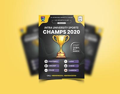 Sports Tournament Poster Design