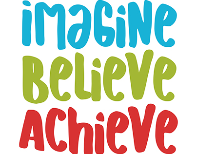Back to School Freebie - Imagine Believe Achieve SVG