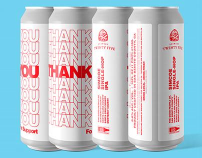Thank You Hazy IPA - Beer Label