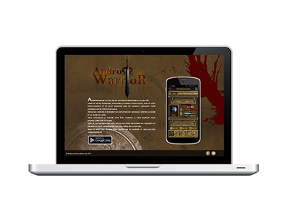 Application mobile Andro Warrior (page vitrine)