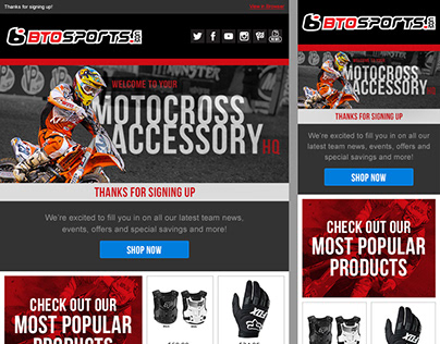 Motocross: Welcome Email Series