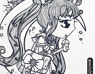 ink ilustración sailormoon