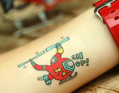 Gumtoo Choppers & Planes Tattoos