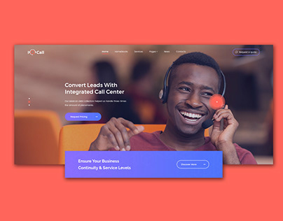 Call Center HTML & WP template