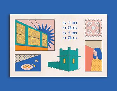 sim não, xin chào: postcards from the world