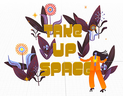 Take Up Space AR Artwork
