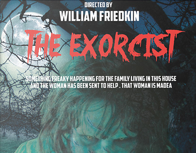 redesign of the exorcist movie poster