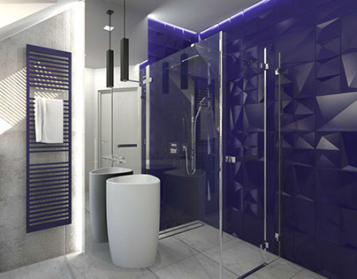 Surowe materiały w nowoczesnym wnętrzu w łazience