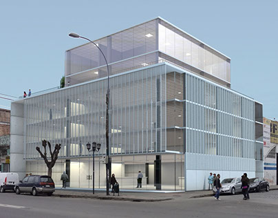 Bussiness building render in Valparaiso - 2012