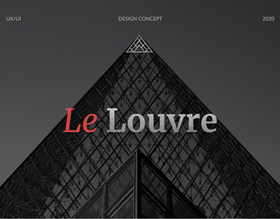 Redesign concept of the Louvre Museum