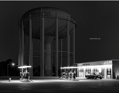 Petit's Mobil Gas Station, Cherry Hill, NJ 1974