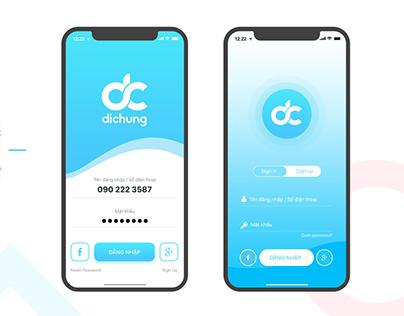 DiChung Mobile App UI Prototype