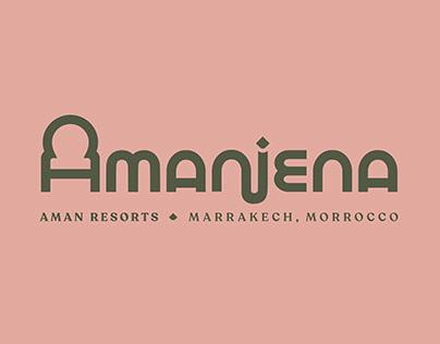 Amanjena Resort Logotype Design & Branding