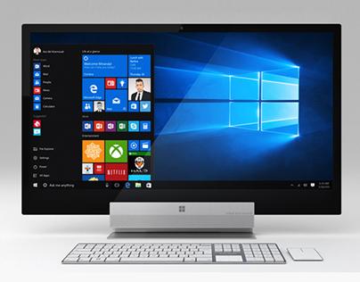 Microsoft surface desktop pro concept