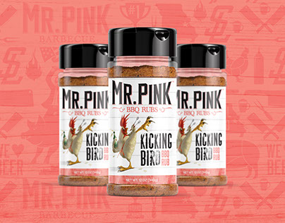Mr. Pink Barbecue Logo & Branding Package